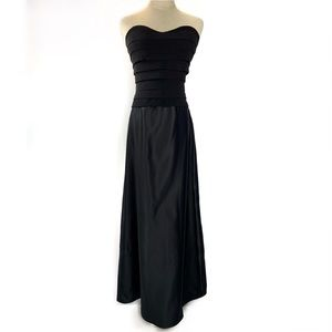NWT Tadashi black strapless gown.